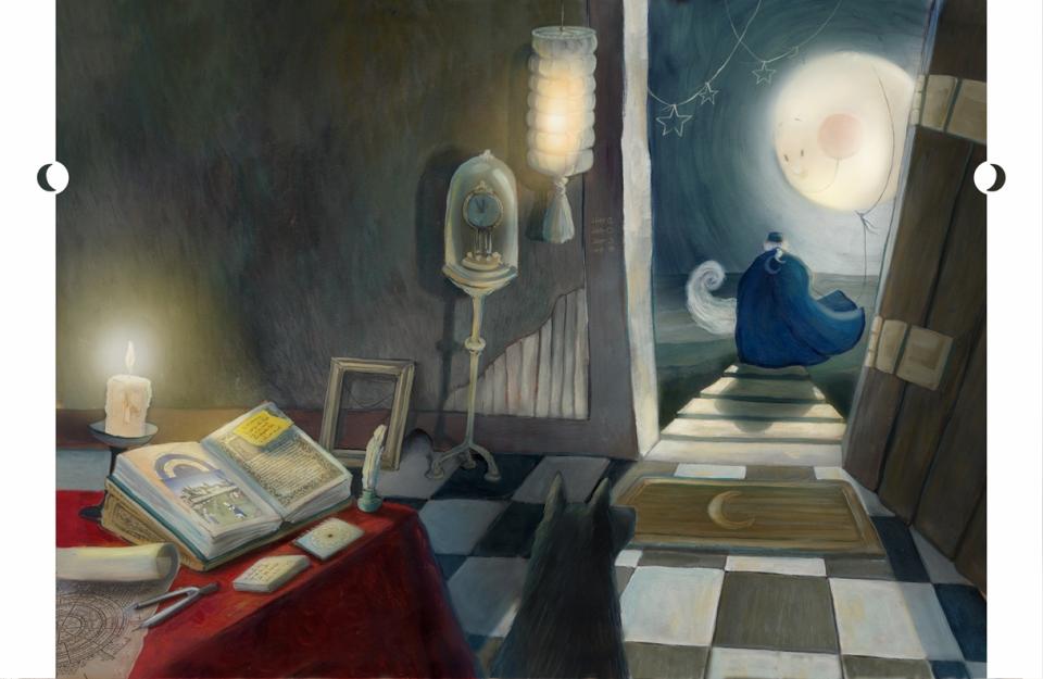 Ilustração de O DONO DA LUA feita por Martha Werneck