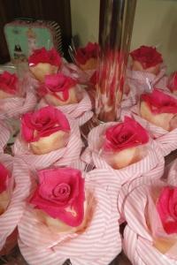 Detalhe das rosas de coco