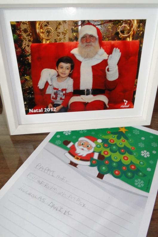 Primeira cartinha para o Papai Noel escrita pelo próprio Nick