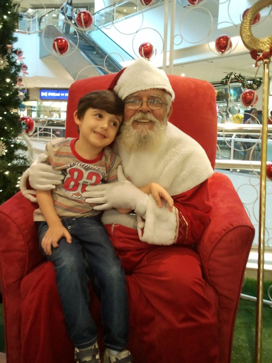 Nick em uma de suas conversas com Papai Noel