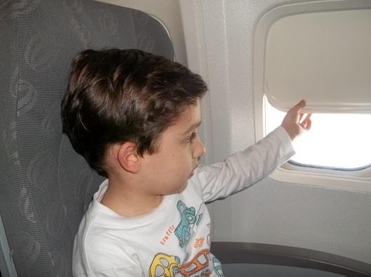 Primeira vez do Nick em um avião