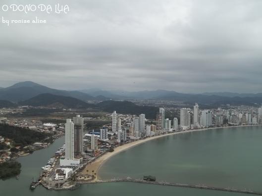 Vista de Balneário Camboriú a partir do teleférico do Parque Unipraias