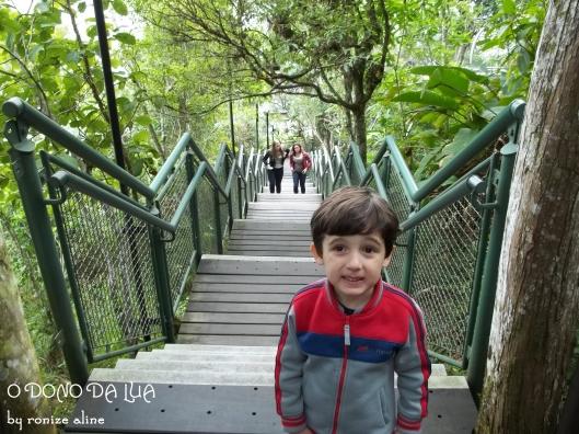 Nick depois de enfrentar a escadaria do parque