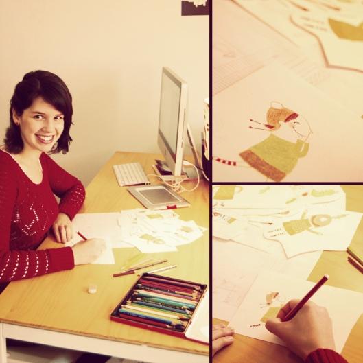 Bruna Assis Brasil trabalhando em Anete